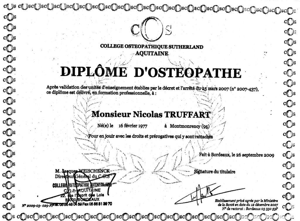 Truffart-diplome-osteopathe-bayonne